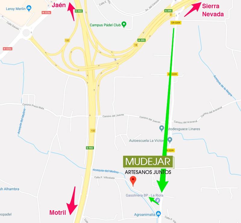 mapa de cómo llegar a Mudéjar Artesanos Juntos